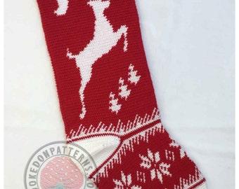 Christmas Stocking Gift Sack - Crochet PDF Pattern