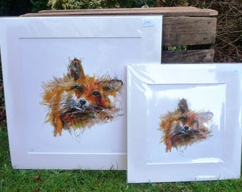 Sleepy Fox Giclee Print