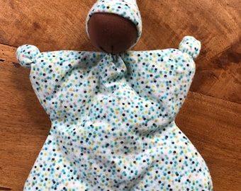 Blue Polka Dot Butterfly Doll With Dark Skin
