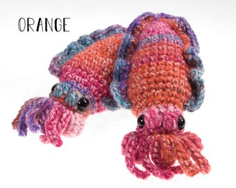 Stuffed Amigurumi Cuttlefish Multi-Color