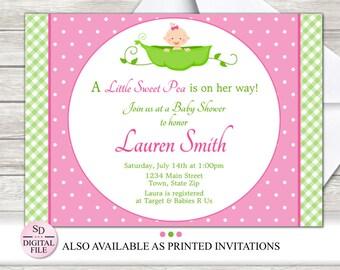 Sweet pea invitation Etsy