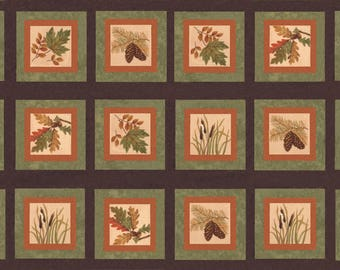 FALL IMPRESSIONS Flannel Blocks PANEL // Moda Fabric Squares by Holly Taylor / Nutmeg