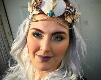 Turquoise Mermaid Crown