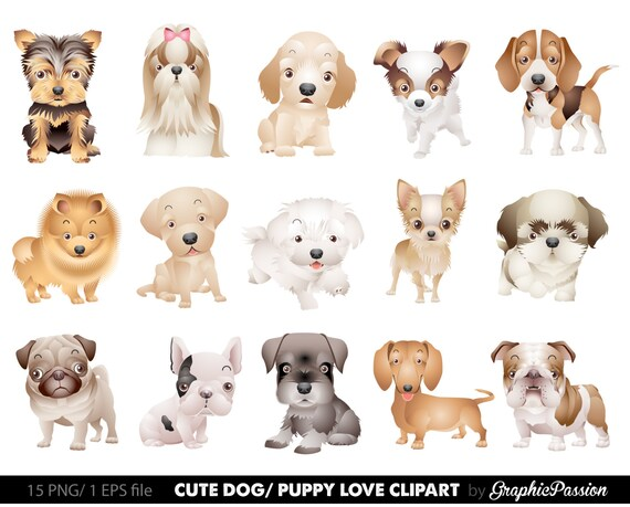 dog clipart puppy clipart cute dogs clip art puppy clipart rh etsy com two dogs clipart dogs clipart images
