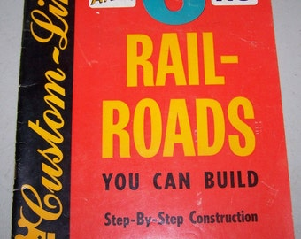"Vintage ""Atlas HO 6 Railroads You Can Build"" Book"