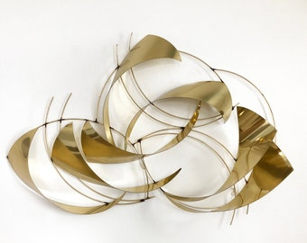 Curtis Jere Abstract Metal Wall Sculpture Mid Century