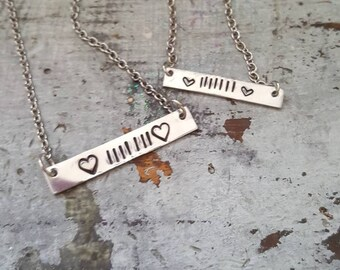 Jeep lover handstamped mini bar necklace   jeep jewelry   jeep lover   handstamped   jeep necklace
