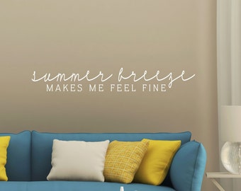 Summer Breeze Decal - Family Wall Decal - Wall Quotes - Beach Wall Decor - Vinyl Lettering - Love Wall Decal - Coastal Charm - Island Life