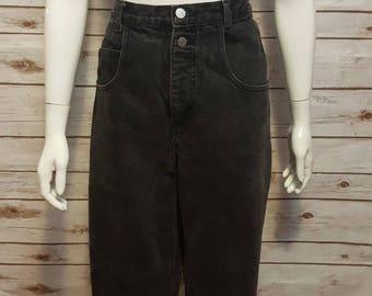 "Vintage, 80's, Guess High waist ""mom"" jeans, black, 33"