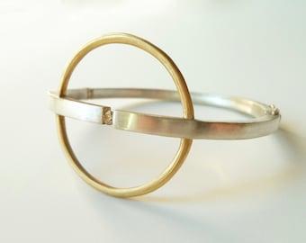 "Silver and Gold Diamond Bracelet, ""Spacial"""