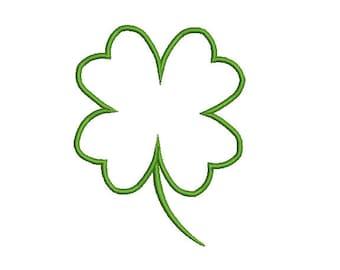 Clover 4 Leaf Applique  Embroidery Design. St.Patrick's Clover Applique  Embroidery  Design. Shamrock Applique Embroidery design.