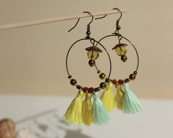 Collection BOHO yellow earrings