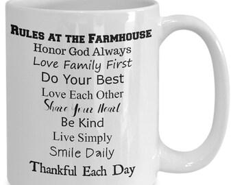 Farmhouse Mugs, Farmhouse Gifts, Farmhouse Inspired, Girl Mugs, Men Mugs, Joanna Gaines, Rustic Mug, Country Lovers Gift, Country Mug