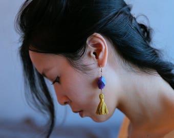 Amethyst earrings, statement amethyst earrings, purple statement earrings, purple crystal earrings, amethyst jewelry