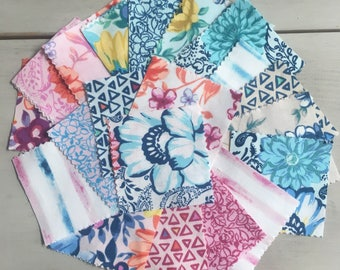 Boundless Hey Dahlia Precut Fabricby Davina Nathan charm pack 2.5 inches by 2.5 inches