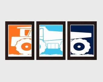 Dump Truck Wall Art, Constraction Truck Wall Art, Playroom Sign, Construction Decor, Playroom Wall Decor, Boys Bedroom Wall Decor,
