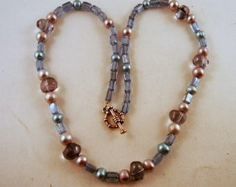 Pearl Necklace Hand made Glass