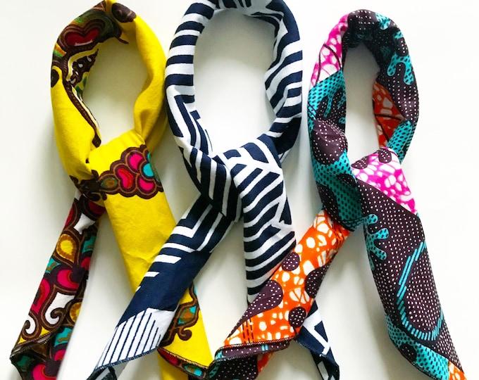 Featured listing image: Multicolor Bandana // African Print Bandana // Cotton Bandana