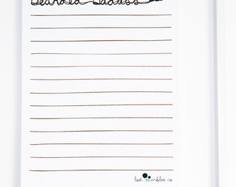 Lined Beard Notepad ∙ Stocking Stuffer ∙ Stocking Filler ∙ Notes of a Bearded Badass
