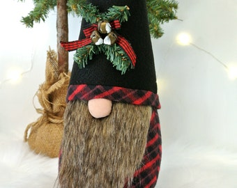 Woodland Plaid Gnome, Tomte, Nisse, Nordic Gnome, Scandinavian Gnome, Forest