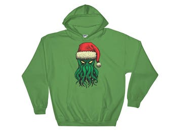 Cthanta (Cthulhu Santa) Hooded Sweatshirt - Official holiday hoodie of the Cthulhu cult!