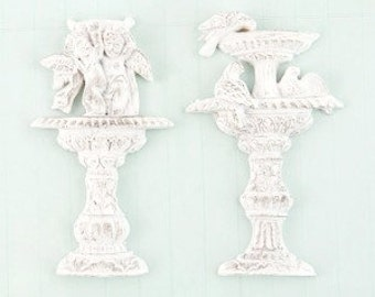 Prima Shabby Chic Treasures Collection Ingvild Bolme Resin Garden Fountain Embellishments