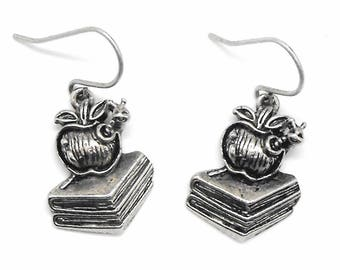 Book Earrings Bookworm Book Lover Gift Dangle Bookish Readers Literary Jewelry
