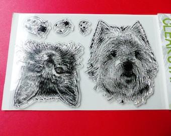 5 transparent stamp Ladybug cat dog pet clear stamp set animal