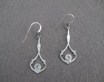 Silver Dangle Earrings on Sterling Silver Earwires