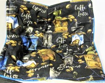 Cafe Latte Reversible Microwave Bowl Cozy