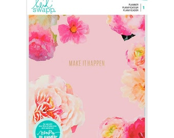 Heidi Swapp Memory Planner - Make It Happen - 12-Month Non-dated Floral Planner