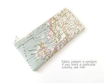 Map pencil case, world map pencil case, map pencil pouch, pencil case, pencil pouch, personalized gifts - Mapamundi