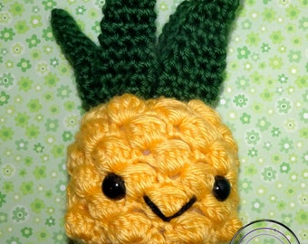 Pineapple Cutie - Crochet Pineapple Plushie - Cute Pineapple Amigurumi - Cute Pineapple  Stuffie - Cute Pineapple Stuffed Animal - Toy Fruit
