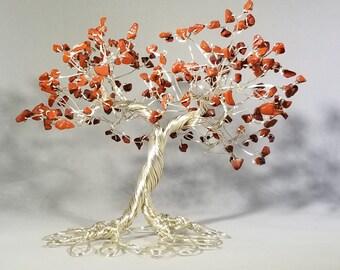 Red Jasper Wire Tree