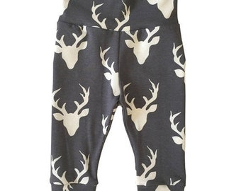 ON SALE Buck Forest Moonstone Leggings, Pants, Leggings For Babies, Newborn, Baby Girl, Baby Boy, Baby Pants, Joggers, Leggings, Gender Neut