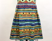 Scuba knit, tribal print,...