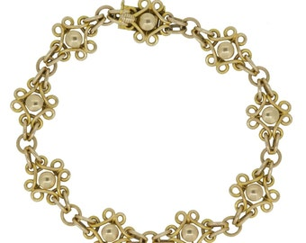 Antique Gold Bracelet, Edwardian, 15ct Gold