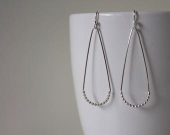 Teardrop Earrings Sterling Silver - Sterling Silver Dangle Earrings - Long Earrings - Boho earrings