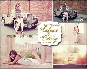 INSTANT DOWNLOAD 22 Professional Enhance &Coloring Photoshop Actions