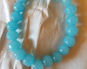 Aqua Round Beads