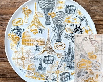 Travel around the world Stickers