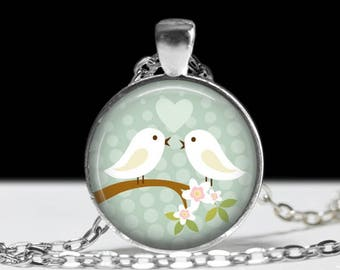 Bird Jewelry Love Bird Pendant Wearable Art Bird Pendant Charm Wedding Jewelry