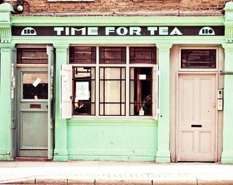 London art print, London photography, large art print, travel photo - Time For Tea