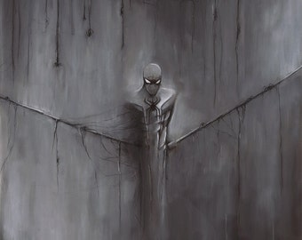 "Spiderman ""Guilt"" comic book illustration charcoal pastel giclée fine art wall print"