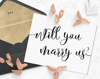 Will You Marry Us Card Printable, Will You Be Our Officiant Card, Wedding Officiant Note Card Gift, Officiant Proposal Card, Minister Card
