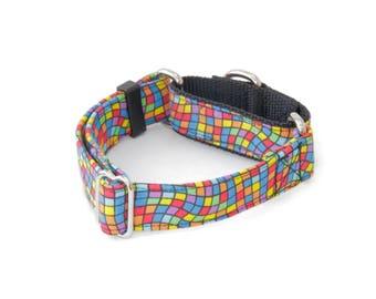 "Warped Checkered Dog Collar - 5/8"" - 2"" Widths - Caninus Collars"