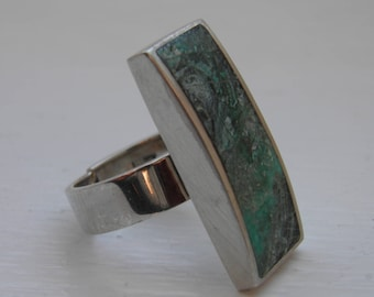 Silver Vintage Statement ring by Orlap Studio