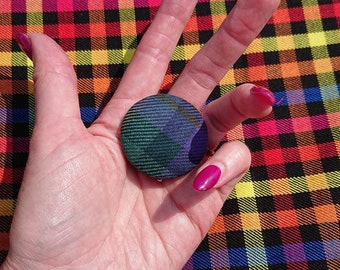 Tartan Wool Brooch Pin Customise D I Y