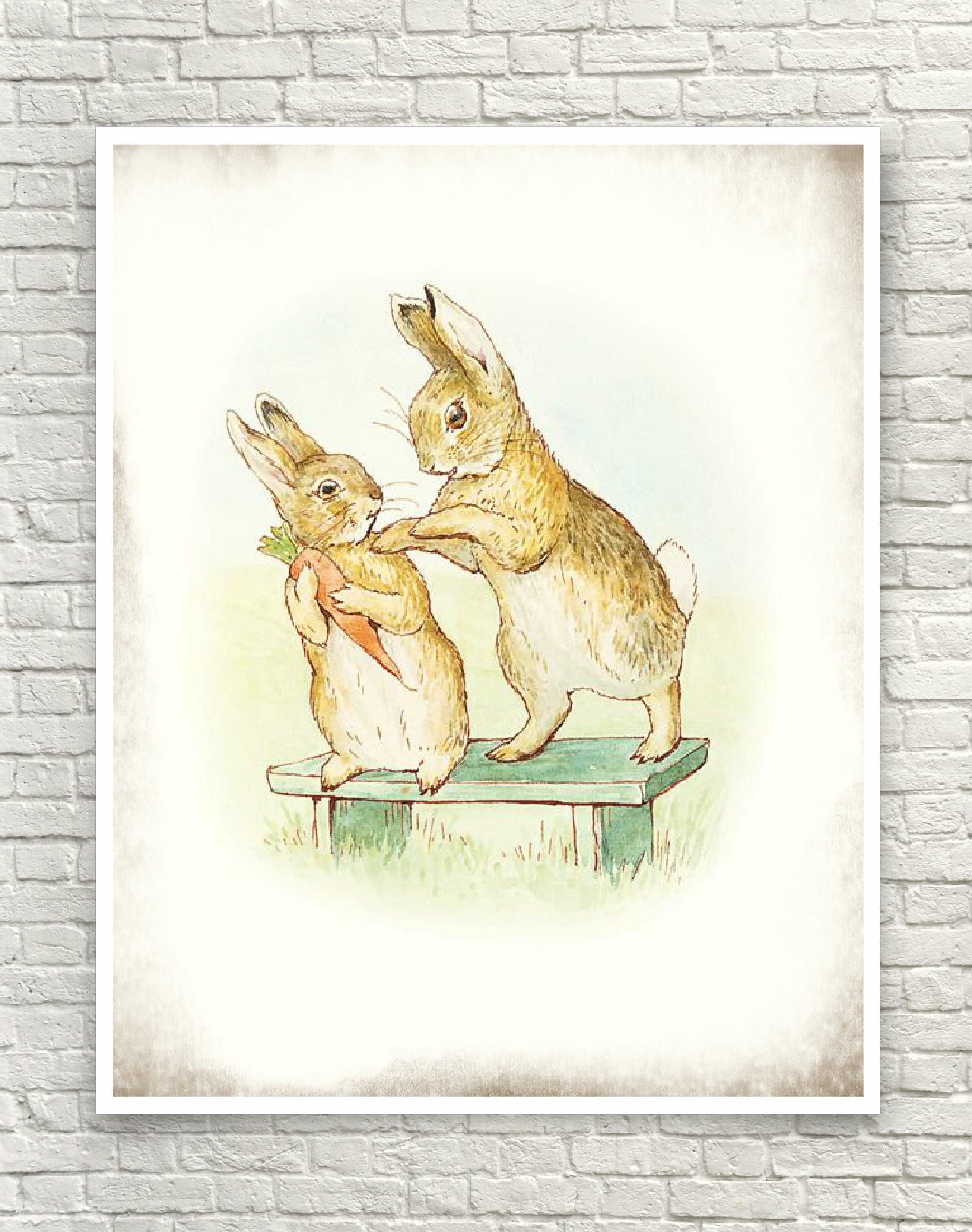 Beatrix Potter Art Print Rabbit Art Print The Story of a
