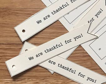 PRINTABLE Thanksgiving Place Cards | Thankful | Thanksgiving | Friendsgiving | Placards